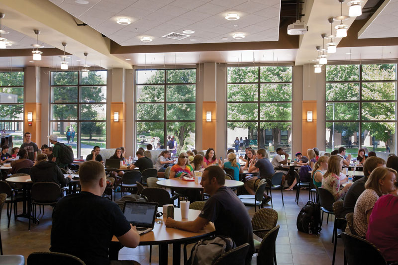 Sex and affiliation in college cafeterias